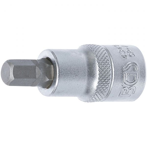 "Bit Socket  12.5 mm (1/2"")  internal Hexagon 9 mm"