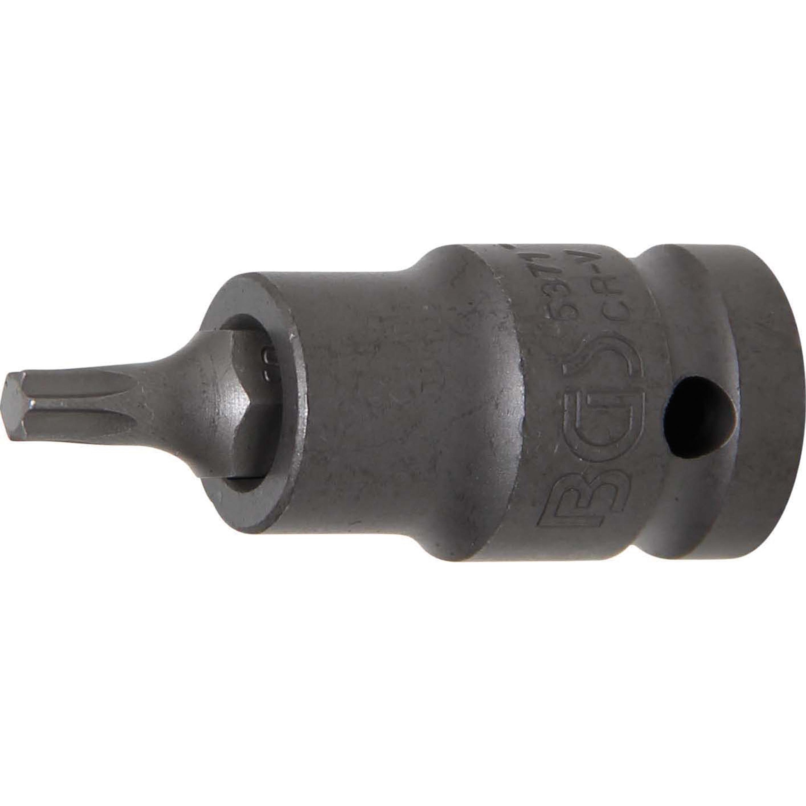 T30 BGS 4471 f/ür Torx 1//2 Bit-Einsatz L/änge 100 mm | T-Profil 12,5 mm